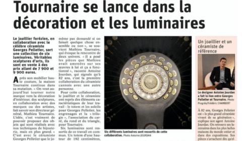 Article dans le journal Le Progrès Collaboration Georges Pelletier et Tournaire Paris