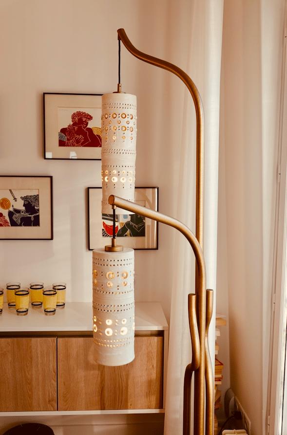 Lampadaire Ceramica suspensions céramique de Georges Pelletier