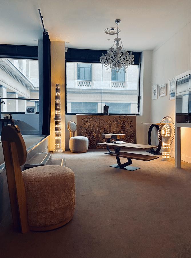 Boutique Tounaire Place Vendôme - mobilier Haute Couture - Design by Antoine Jourdan -