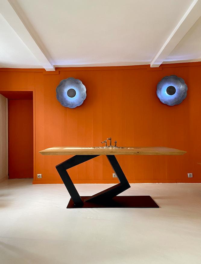 Showroom de Montmartre - mobilier Haute Couture - Design by Antoine Jourdan